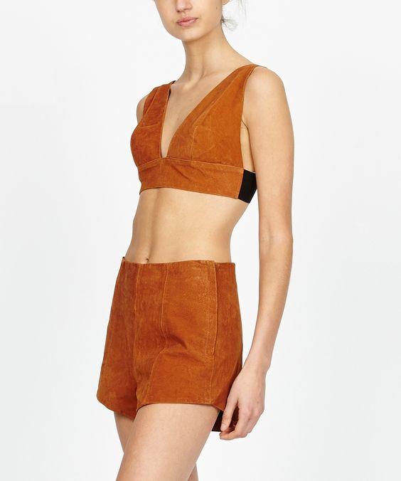 HONEY CHILD LEATHER BIKINI TOP | Fashion Tops | Tops | Clothing | Shop Womens | General Pants Online