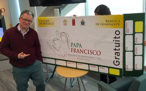 """Austen Ivereigh on Twitter: """"This is what a Mexican papal event ticket should look like. Don't fall for imitations. @ConElPapa #PapaEnMexico https://t.co/yVN8wnPwBQ"""""""