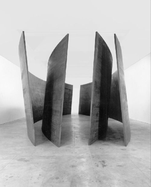 RICHARD SERRA, INTERSECTION II 1992-93: walking in and around giant sculptures.  One of my very favorite artists