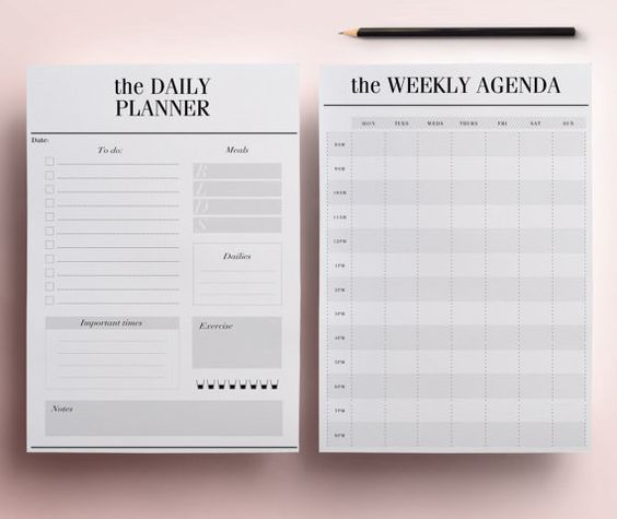 19 best plan images on Pinterest Planner ideas, Life planner and - free download daily planner