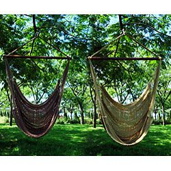 Hammock chairs...look so comfy for reading and relaxing outside.