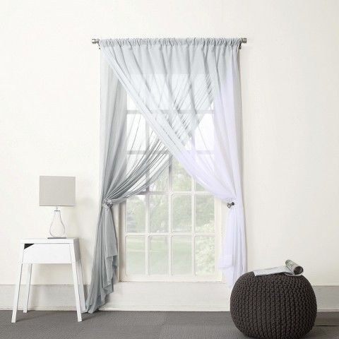 Curtains Sheer Panels - Rooms