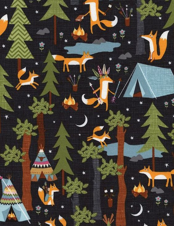 Love this  Crib Sheet-Baby Boy-Fitted-Woodland-Rustic Toddler Bed Sheet-Baby Bedding-Camping Fox--Under the Stars-Steel-Standard or Mini Crib sheet