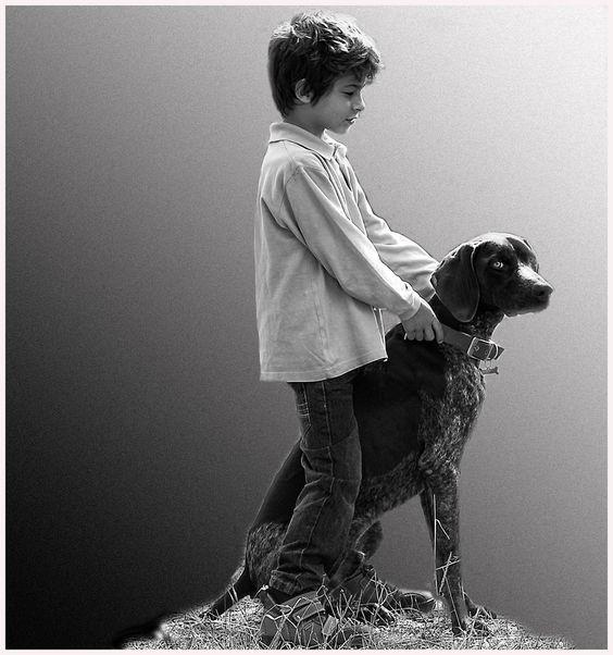 """""""Niño con perro"""" - Lola Camacho"""