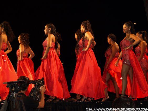 aspirantes a reina de llamadas 2014 #carnaval del #Uruguay #carnaval2014