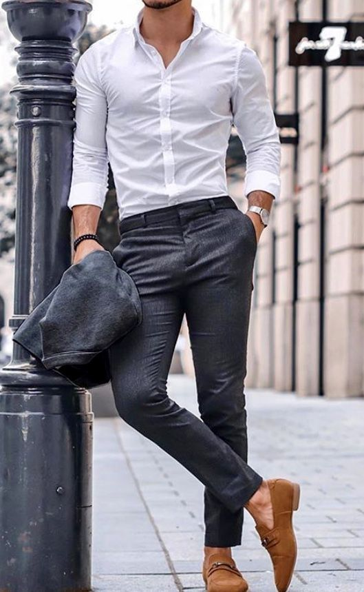 The White Dress Shirt Is A Men S Style Staple Stylish Mens