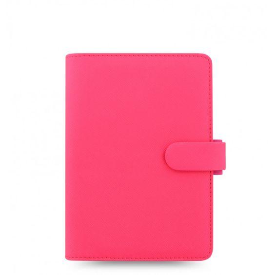 Filofax Saffiano Fluoro Personal Organizer in Pink // Originally $59