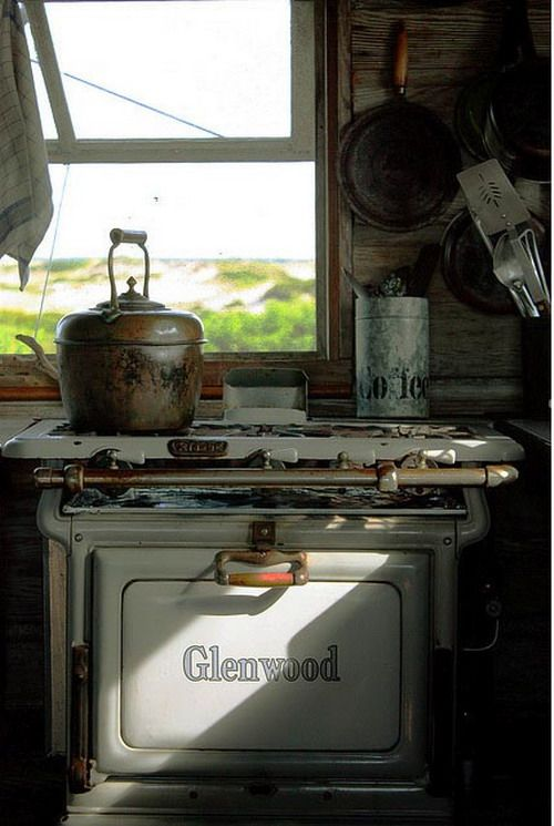This antique stove and oven still works. Can you believe it?