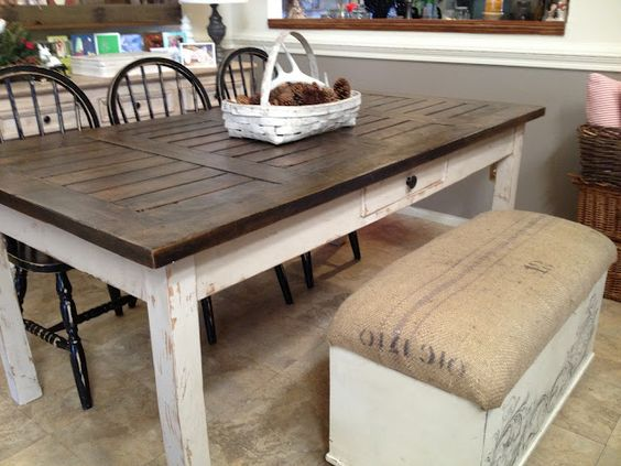 Distressed Tables Dining Table Redo And Tables On Pinterest