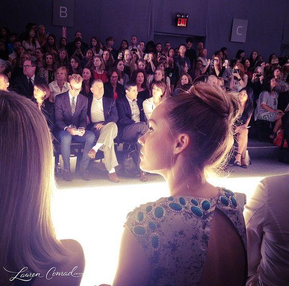 Lauren Conrad at the Lela Rose runway show. #LaurenConrad #nyfw #LelaRose
