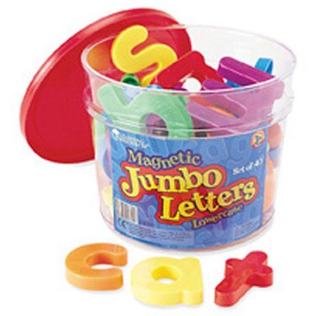 Jumbo Lowercase Magnetic Letters, Set of 40, Multicolor
