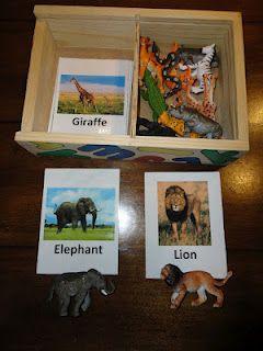 Animal matching game  Dementia activity box