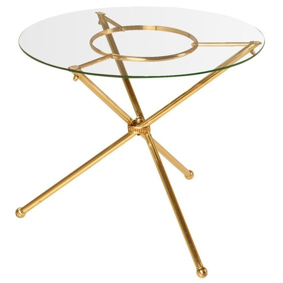 French 1940 S Brass And Glass Neoclassical Table Side Table Marble Accent Table Modern Side Table