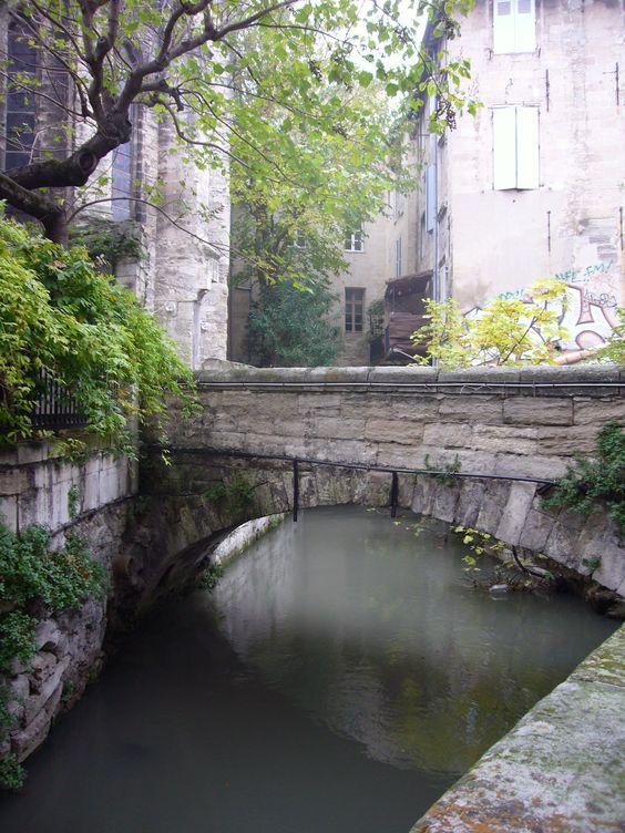 Rue des Teinturiers, Avignon, France.