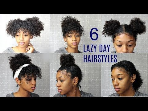 6 Messy Cute Hairstyles For Lazy Days Back To School Edition Natural Curly Hair Youtube Cute Curly Hairstyles Short Natural Curly Hair Lazy Hairstyles
