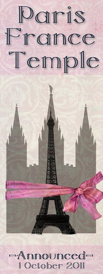 Paris France Temple - Announced October 1, 2011. #LDS #Mormons