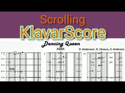 Dancing Queen Abba Scrolling Klavarscore Sheet Music Youtube