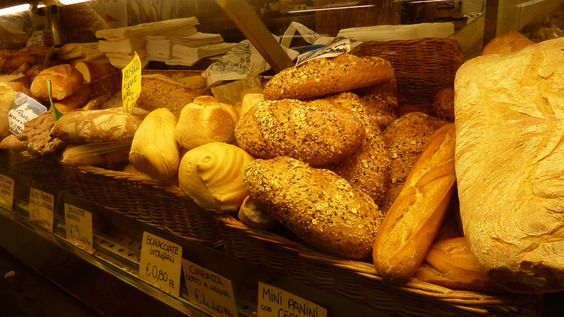 Mmmmm, Italian breads from the Florence central market in Florence Italy.