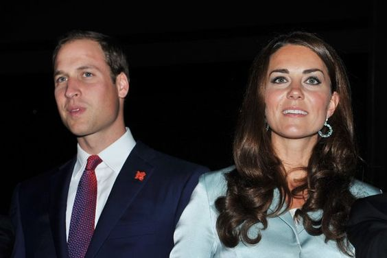Prince William, Duke of Cambridge and Catherine, Duchess of Cambridge look on ahead of the Olympic Games 2012 Opening Ceremony  on July 27, 2012 in London, England.