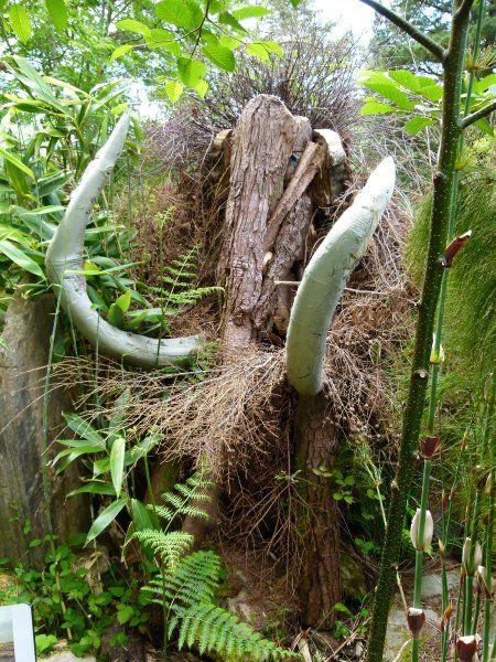 Eine Frage des Blickwinkels: Dass man hier vor einem Mammut steht, erkennt…