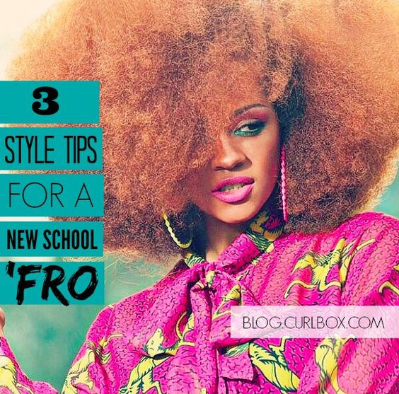 Tips on how to finesse your 'fro into fabulousness!   http://blog.curlbox.com/2014/12/15/3-style-tips-for-a-fab-fro/