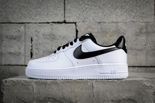 Nike Air Force 1 Low White Black 820266 101 in 2019 | Nike