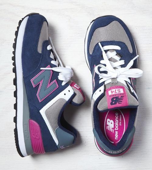 new balance 574 donna pelle rosa