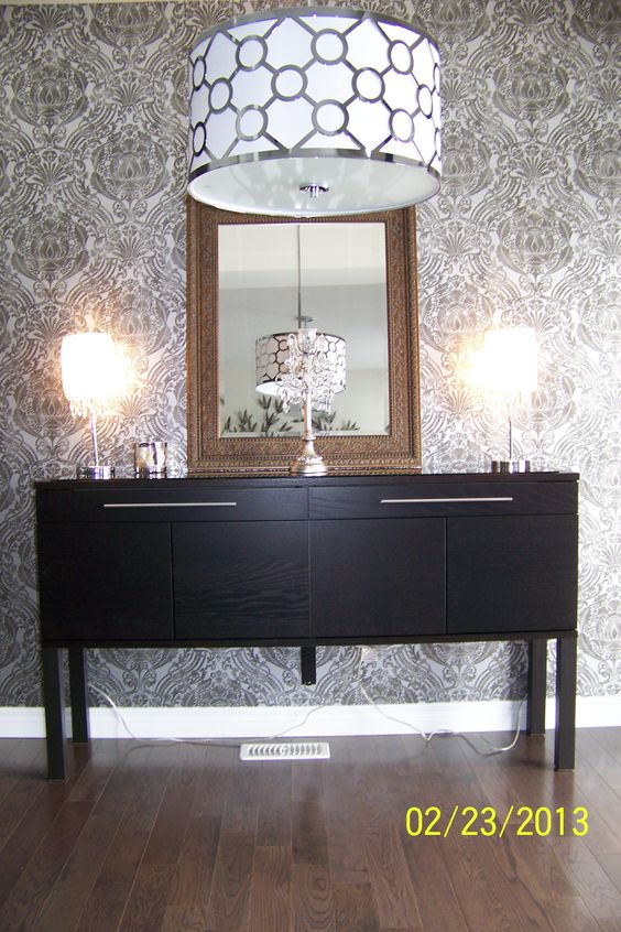 ikea hack d i y ikea 39 s bjursta sideboard ikea 39 s lack side table swap the legs and voila a. Black Bedroom Furniture Sets. Home Design Ideas