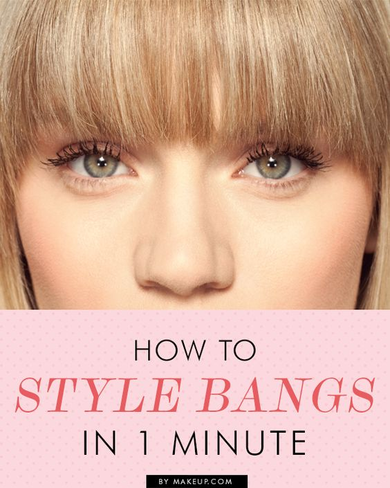 ways to style hair with bangs hair fringes and style on 7622