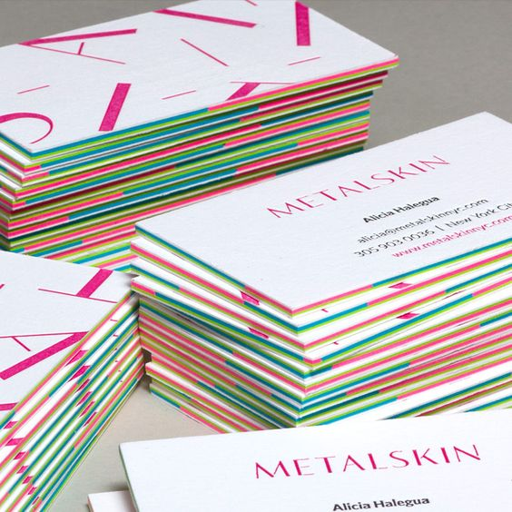 Multi-Layered Business Cards with Letterpress   JukeBoxPrint.com