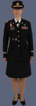 Original Female Soldier Wearing Male Dress Blue Items UNIFORMS US  600x880
