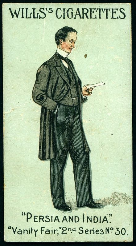 """Cigarette Card - Lord Curzon. """"Vanity Fair 2nd Series""""."""