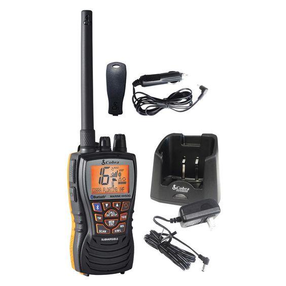 Cobra MR HH500 FLT BT Floating 6W VHF Radio w-Bluetooth