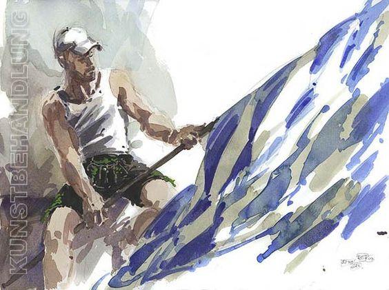 Robert C. Rore in der Kunstbehandlung: weiß-blau... + Bild 295318-1.jpg
