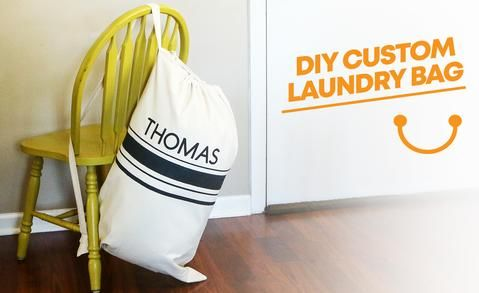 Diy Custom Laundry Bag How To Customize A Canvas Laundry Bag With