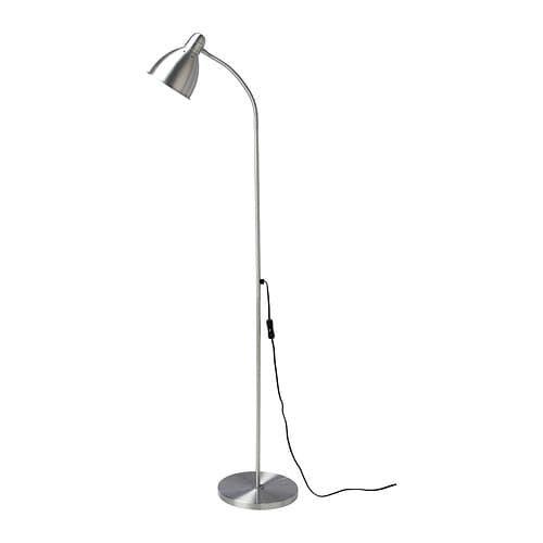 Lersta Floor Reading Lamp With Led Bulb Aluminum Ikea Reading
