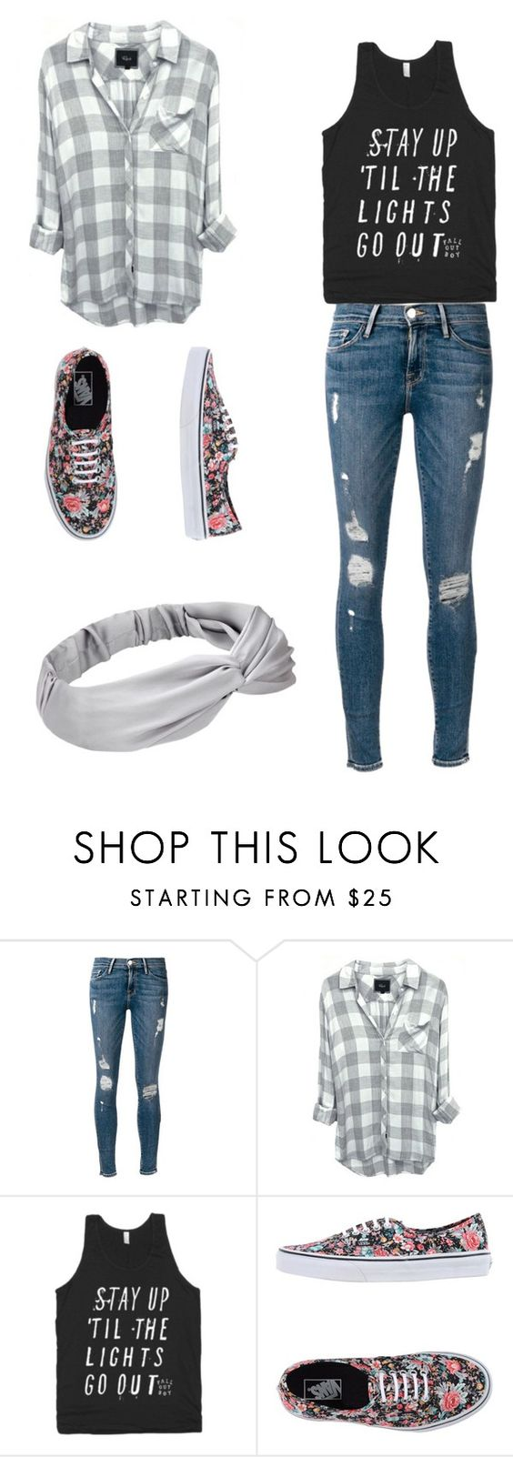 """""""Till the lights go out"""" by megan0156 ❤ liked on Polyvore featuring Frame Denim and Vans"""