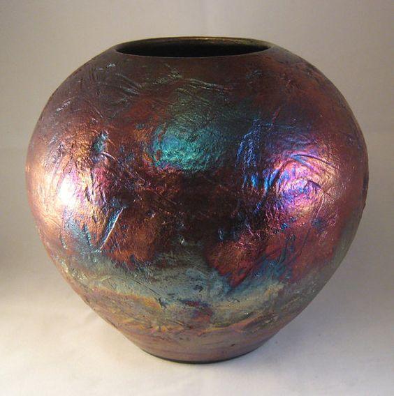 Don Williams | Metallic raku pot