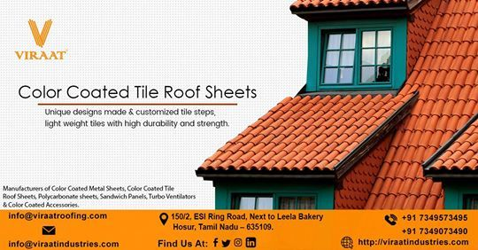 We Have A Rich Industrial Experience And Expertise In Providing Color Coated Tile Roofing Sheet We Supply An Excellent Quali Roofing Roofing Sheets Tile Steps