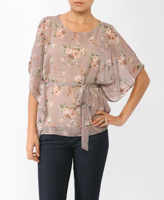 Floral Print Poncho Top | FOREVER21