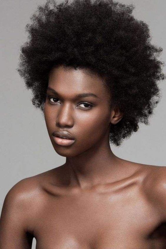 Mocha woman with natural hair