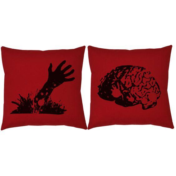 Zombie Snack Throw Pillows
