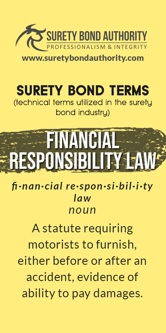 Surety Bond Glossary In 2020 Bond Financial Responsibility