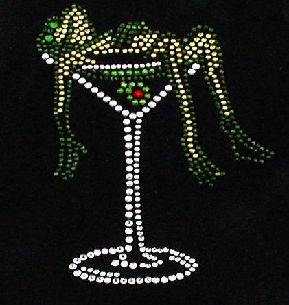 Frog in Martini  - this is for the lover of frog and Martini  :)