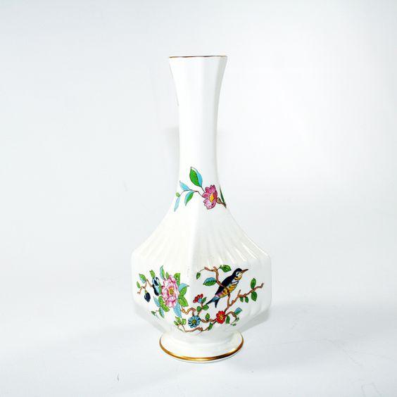 Vintage Aynsley Pembroke Porcelain Bud Vase Glass And Ceramics