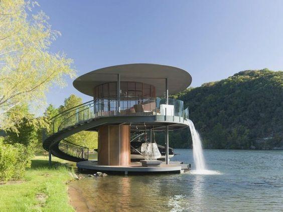 interior design school austin - Boat dock, Boats and Waterfalls on Pinterest