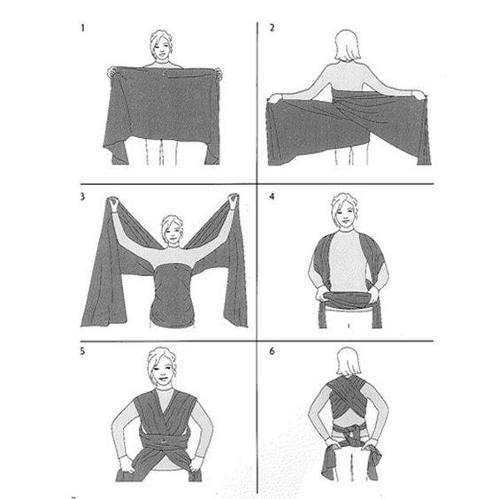 Portage bébé : comment nouer son écharpe ? - Magicmaman.com