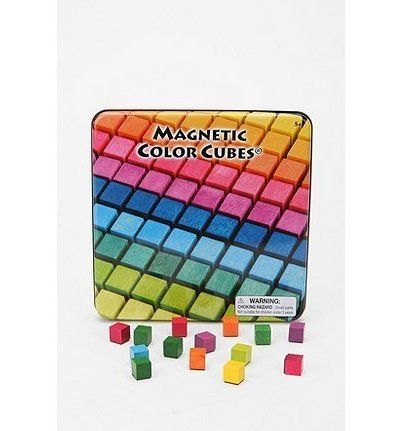 Magnetic Color Cubes. How cool! I want them.