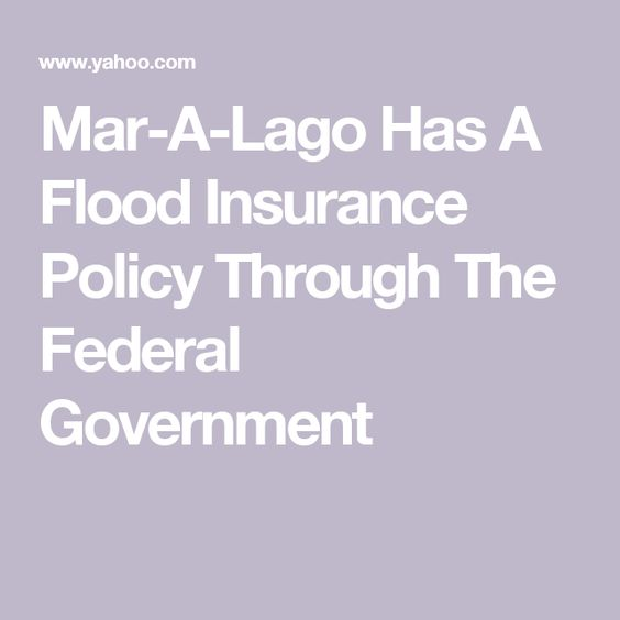 A Lago Has A Flood Insurance Policy Through The Federal Government