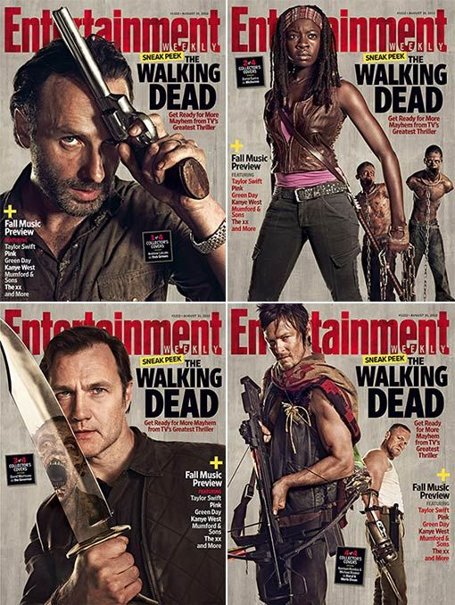 Entertainment Weekly's 4 Walking Dead covers